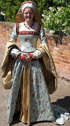 Blue/Floral Tudor Gown