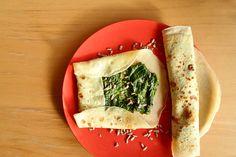Naleśniki ze szpinakiem | Spinach pancakes http://www.codogara.pl/7401/nalesniki-ze-szpinakiem/#