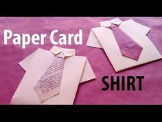 DIY Paper Crafts || How to make Paper Card Shirt with Bow tie