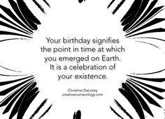 your birthday....