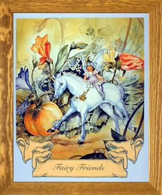 This fairy and unicorn horse art framed poster is sure to bring nice elegant touch to your home. It will be a perfect addition for your child room. Its wooden brownrust frame accentuates the poster mild tone. The frame is made from solid wood measuring 19x23 inches with a smooth gesso finish. It includes a wire hanger on the back for easy display. Impact posters gallery also offers high quality framed posters which are perfect for decorators on a budget. Hurry up! Make your order today.