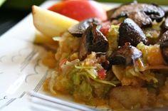 IMG_1705  Celery apple salad with Roasted Mushrooms