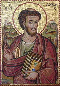 Luke The Evangelist, Byzantine, Mosaic Art, My Works, Mona Lisa, Culture, Statue, Artwork, Painting