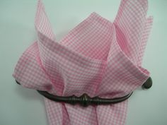 Ginham pocket square Pink and white by LeBoutonVert on Etsy, $11.75