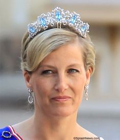 Sophia, Countess of Wessex wearing the Canadian  Aquamarine Tiara