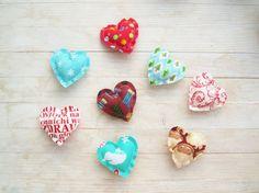 Christmas decor soft heart shaped fridge magnet by poppyshome, $5.00