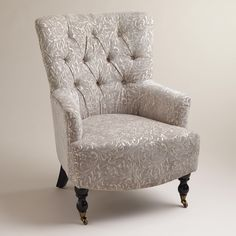 Elegant Embossed Floral Chenille Tufted Chair from World Market ($150 on sale as of 7/12, plus $70 shipping)