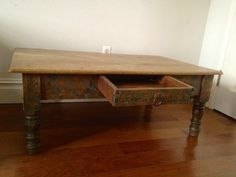 Antique coffee table from Brooklyn, New York! Adorable!