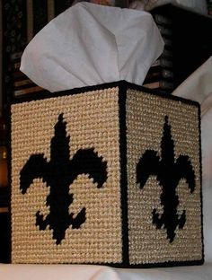 PATTERN for Plastic Canvas- Saints Tissue Box Cover