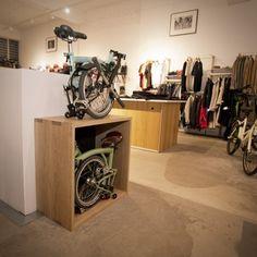 Bike storage meets art - http://www.goinggoingbike.com/blog/storage-design-for-a-brompton-bicycle/