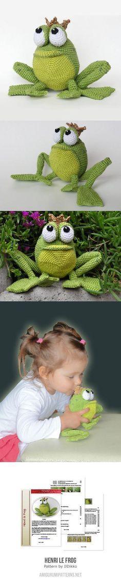 Henri Le Frog Amigurumi Pattern