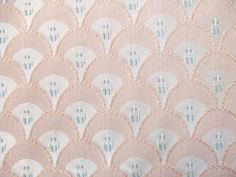 2 Yards Peach Scallops Upholstery Fabric by TextilesandThings, $20.00