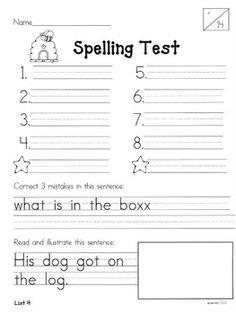 YEAR-LONG 1ST GRADE SPELLING ASSESSMENTS AND WORD LISTS {BUNDLED}