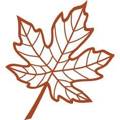 Silhouette Design Store - View Design #13726: veined maple leaf