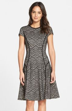 Maggy London Scallop Lace Fit & Flare Dress available at #Nordstrom