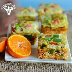 Fit Men Cook - Ingredients for 1 or 2 servings: 1 egg, 8 egg whites, 200g raw sweet potato (grated), 1/4 red bell pepper, 1/4 green bell pepper. Seasonings: sea salt, pepper, garlic & cumin. Depending on the size of your muffin pan, you can more or less than 6 frittata minis. Best thing about this recipe is that it is easy to adjust to meet your needs. Bake for about 15 minutes at 405F or until the egg is fully cooked.