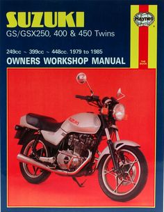 Haynes M736 Repair Manual for Suzuki GS250 and GS 450 Twins