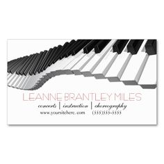 Piano Player or Piano Instructor | Teacher Double-Sided Standard Business Cards (Pack Of 100). I love this design! It is available for customization or ready to buy as is. All you need is to add your business info to this template then place the order. It will ship within 24 hours. Just click the image to make your own!