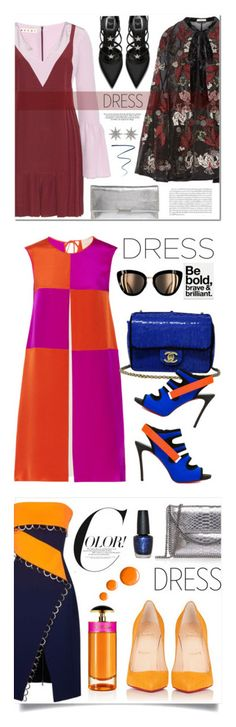 """""""Winners for On Trend: Two-Tone Dresses"""" by polyvore ❤ liked on Polyvore featuring Marni, Erdem, Loeffler Randall, Bee Goddess, NARS Cosmetics, Roksanda, Dsquared2, Chanel, AngelStar Forever and polyvoreeditorial"""