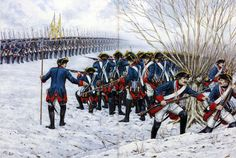 Attack of the Prussian army of Frederick the Great, the Seven Years War 1756-1763