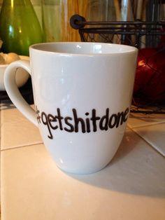 Hashtag getshitdone coffee mug on Etsy, $15.00