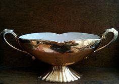 Vintage English Gold Luster Flower Vase, Large Vessel, Art Deco Art Nouveau Look via Etsy