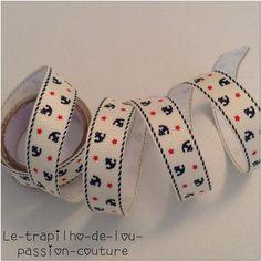 1 Rouleau de Ruban adhésif en tissus de 1m : Rubans par le-trapilho-de-lou-passion-couture