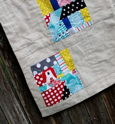 Fabulous improv quilt blocks by Laura Pearce using Brrr!