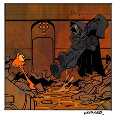 Darth and Kylo (Calvin and Hobbes and Star Wars mashup) - by Brian Kesinger - #5