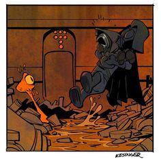 Darth and Kylo (Calvin and Hobbes and Star Wars mashup) - by Brian Kesinger - #5