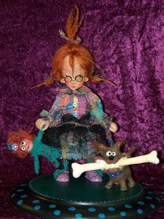 Lou Lou and Bowser One Of A Kind Art Doll by Marcie by aworkofhart, $350.00