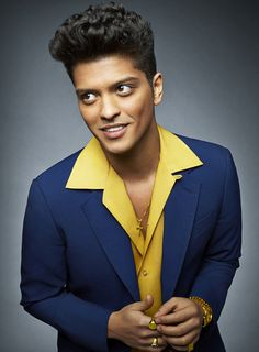 "Bruno Mars born Peter Gene Hernandez (born October 8, 1985),is an American singer, songwriter and record producer. His debut studio album, Doo-Wops & Hooligans (2010), was anchored bychart-topping singles ""Just the Way You Are"" and ""Grenade"". His second album, Unorthodox Jukebox, was released in 2012, peaked at number one in the United States. The album spawned the international singles ""Locked Out of Heaven"", ""When I Was Your Man"" and ""Treasure"". Mars has received two Grammy Awards."