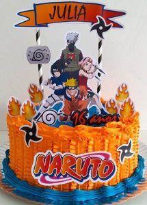 Birthday Treats, 9th Birthday, Birthday Parties, Bolo Do Naruto, Naruto Party Ideas, Bolo Minecraft, Sasuke Uchiha Sharingan, Naruto Birthday, Brithday Cake