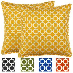 Pillow Perfect Outdoor New Geo Squared Chair Cushion - Overstock™ Shopping - Big Discounts on Pillow Perfect Outdoor Cushions & Pillows