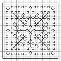 Le Projet Blackwork - many squares - free