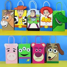 Toy Story Favor Bag – Simply Made with Sam Toy Story Birthday, 2nd Birthday Parties, Birthday Party Decorations, Cumple Toy Story, Festa Toy Story, Favor Bags, Goodie Bags, Imprimibles Toy Story, Toy Story Centerpieces