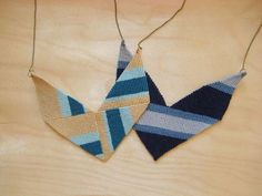 Chevron Macrame Statement Necklace Tutorial - The Beading Gem's Journal.  Also check links at the bottom.
