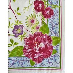 Millefleurs Tablecloth, Gien , France. tablecloth - available mid August 2014! Contact Hillsley/Hood French 215-840-5607 to purchase.