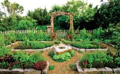 """""""plan a beautiful, long-term kitchen garden for years of fragrance and flavor"""" from grit magazine"""