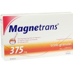 MAGNETRANS trink 375 mg Granulat:   Packungsinhalt: 20 St Granulat PZN: 07758303 Hersteller: STADAvita GmbH Preis: 5,27 EUR inkl. 7 %…