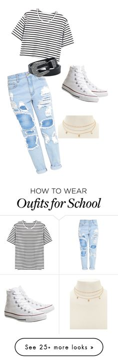 """""""School casual"""" by caitlynmsteiner on Polyvore featuring Converse and Forever 21"""