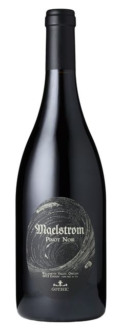 Gothic Maelstrom Pinot Noir 2012 Willamette Valley, Pinot Noir, Gothic, Bottle, How To Make, Black, Wine, Goth Subculture, Black People