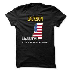 Awesome Tshirt (Tshirt Top 10 Tshirt) JACKSON - Its Where My Story Begins -  Discount 15%