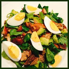 #Honey# #Mustard# #Chicken# #Avocado# #Salad#  Ingredients:  #Chicken Thighs# #Soy Sauce# Black Pepper Celery Salt Avocado #Dandelion Salad# #Olive Oil# #Dijon Mustard# Honey #Eggs#  ----------------------------------  #Honing# #Mosterd# #Kip# #Avocado# #Salade#  Ingrediënten:   #Kippendijfilet# #Ketjap Manis# Zwarte Peper Selderij Zout Avocado #Veldsla# #Olijfolie# #Dijon Mosterd# Honing #Eieren#