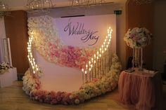 Wedding backdrop romantic backgrounds 39 new ideas Wedding Ceremony Ideas, Wedding Games For Guests, Wedding Stage, Wedding Show, Wedding Events, Trendy Wedding, Weddings, Backdrop Decorations, Flower Decorations