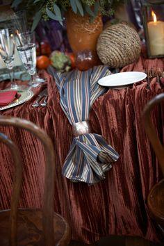 silver napkin ring, nautical rope, tablescape, la wedding designer, event planner