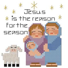 Christmas Jesus is the reason for the season cross stitch pattern by Jennifer Creasey