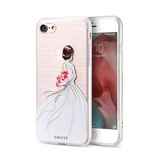 Elegant Bride Wedding Dress Painted Case For iPhone 6 6s 7 Plus 5 5s SE Soft TPU Cover Coque For iPhone 7 6 6s Plus 5 5s SE