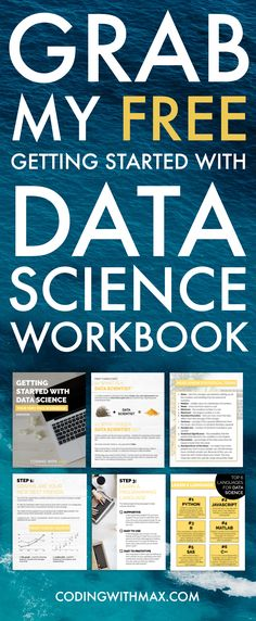 Looking to get started with data science but not sure how or where to start from? Grab my free workbook here!