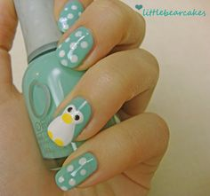Green penguins :) would love this with black instead of green with yellow polka dots